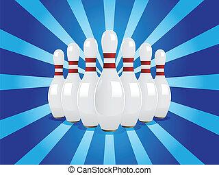 Bowling pins - Vector illustration set of 7 bowling pins