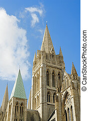 Truro Cathedral set agains a sunny blue sky
