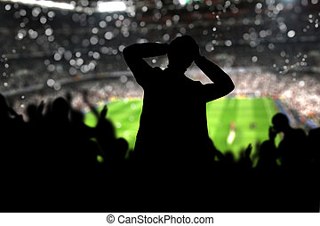 Crowd on the stadium - Image of a full stadium with...