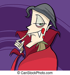 cartoon vampire - cartoon illustration of funny vampire