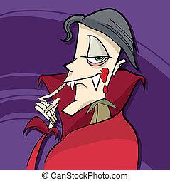 cartoon vampire - cartoon illustration of funny vampire