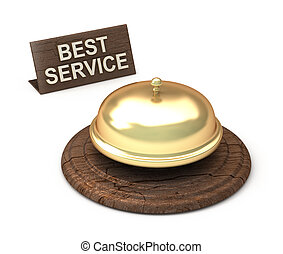 Best Service, golden bell