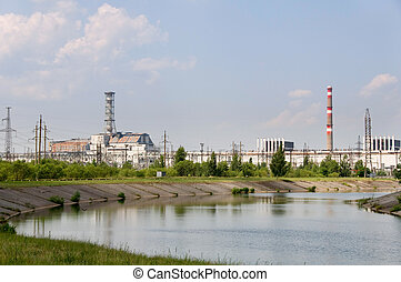 Chernobyl nuclear reactor - Chernobyl nuclear station in...