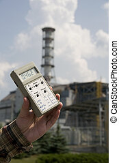 High radiation level near sarcophagus of Chernobyl nuclear...