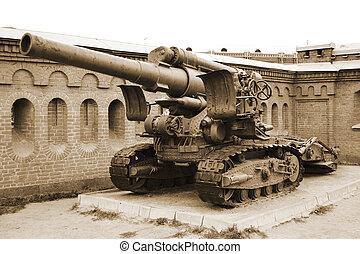 arma de fuego,  sepia, artillería