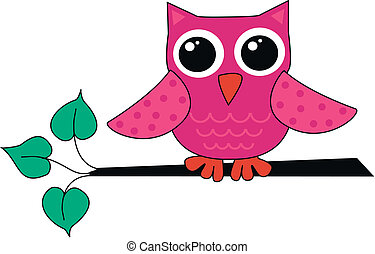 a cute little owl - a cute little pink owl