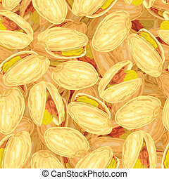 Pistachios. Seamless background.