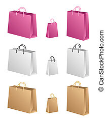 Shopping Bags - Three different shapes in three different...