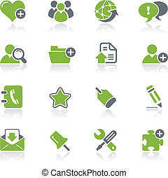 Blog and Internet Icons Natura - Vector icons for your...