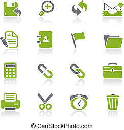 Interface Web Icons Natura - Vector icons for your website...