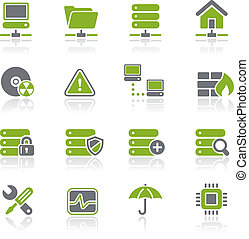 Network, Server and Hosting Natura - Vector icons for your...