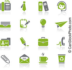 Office and Business Icons Natura - Vector icons for your...