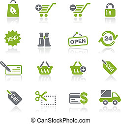 Shopping Icons Natura - Vector icons for your website or...