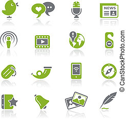 Social Media Natura - Vector icons for your website or...