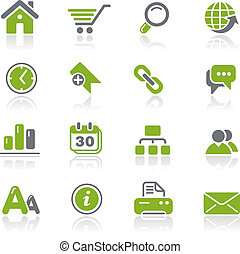 Web Site and Internet Natura - Vector icons for your website...