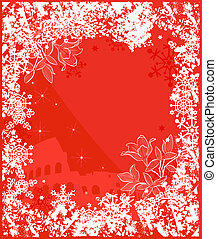 Winter Italy background vector