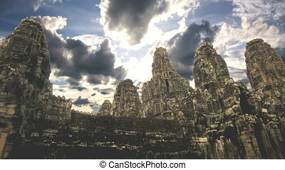 temples - Bayon temple in Ankgor wat Cambodia