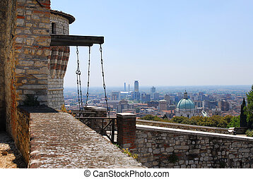 Castello di Brescia - Brescia castle with a view of city