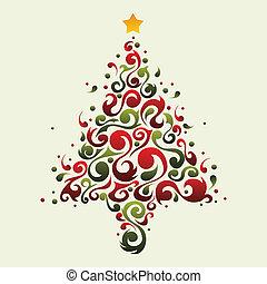 Plant ornamental christmas tree