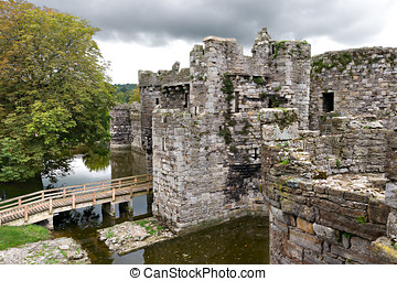 Beaumaris Castle in Anglesey, Wales, UK