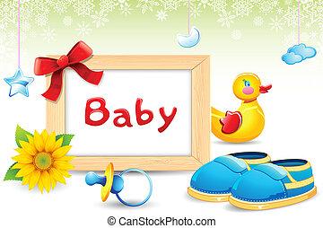 Photo Frame with Baby item - illustration of photo frame...