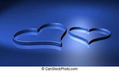 2 blue hearts