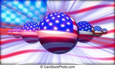 USA flag design on balls