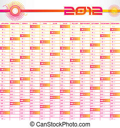 2012 Planner - illustration of complete planner for 2012 in...