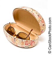 Sunglasses in spectacle case