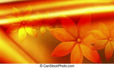 Flowers on gold background