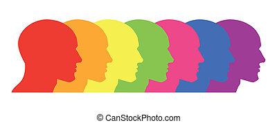Orgulho Gay - Ilustra??o de um arco-?ris representado por...