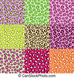 Collection Leopard Skin Textures - Illustration of a...