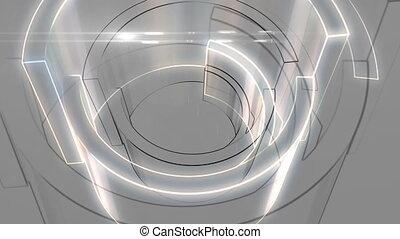 Half circle rotation