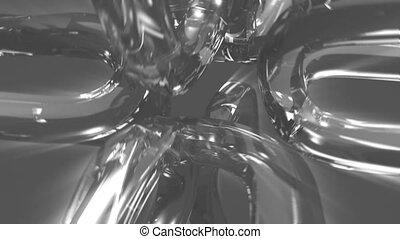 Silver U shape objects