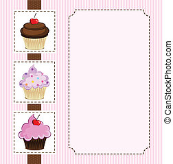 Tree Cupecakes - Illustration of delicious cupcakes.