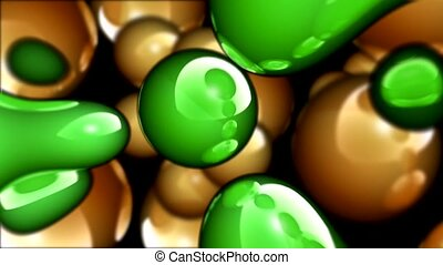 Green and brown blobs