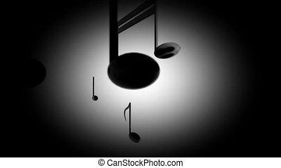 Spotlight on music notes