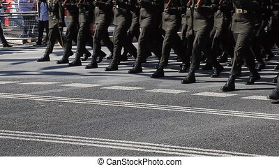 soldier 3 - Army soldier passed ceremony, shoot Canon 5D...