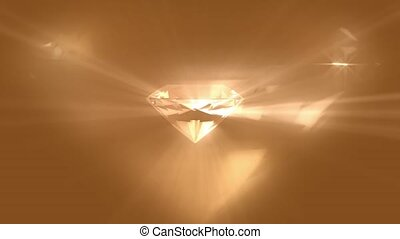 Light reflecting off diamond