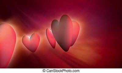 Circling hearts