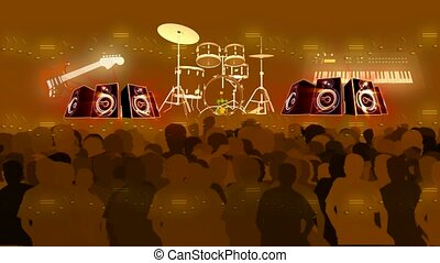 Crowd at a musical concert