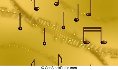 Rising music notes