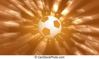 Soccer ball rotating