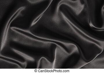 黑色, 緞子, 或者, 絲綢, 背景