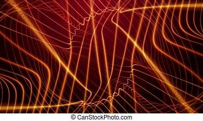 Bright orange lines