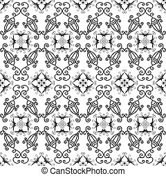 White and black seamless pattern