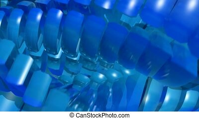 Blue turning spokes