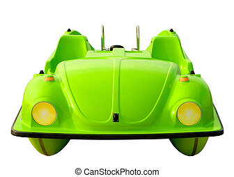 Green Pedalo Car Isolated