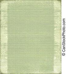 groene, ouderwetse, bamboe, geribd, achtergrond