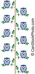 Owls sat in a tree